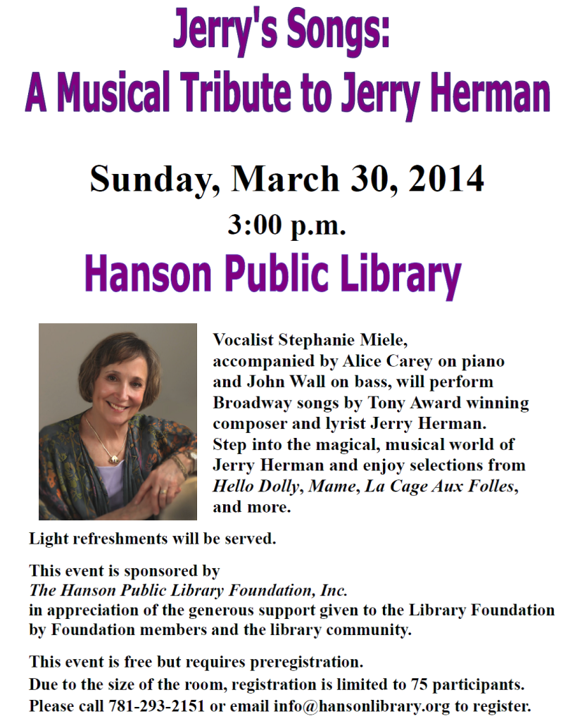 Jerry's Songs: A Musical Tribute to Jerry Herman