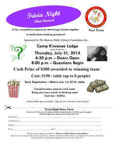Third Annual Trivia Night
