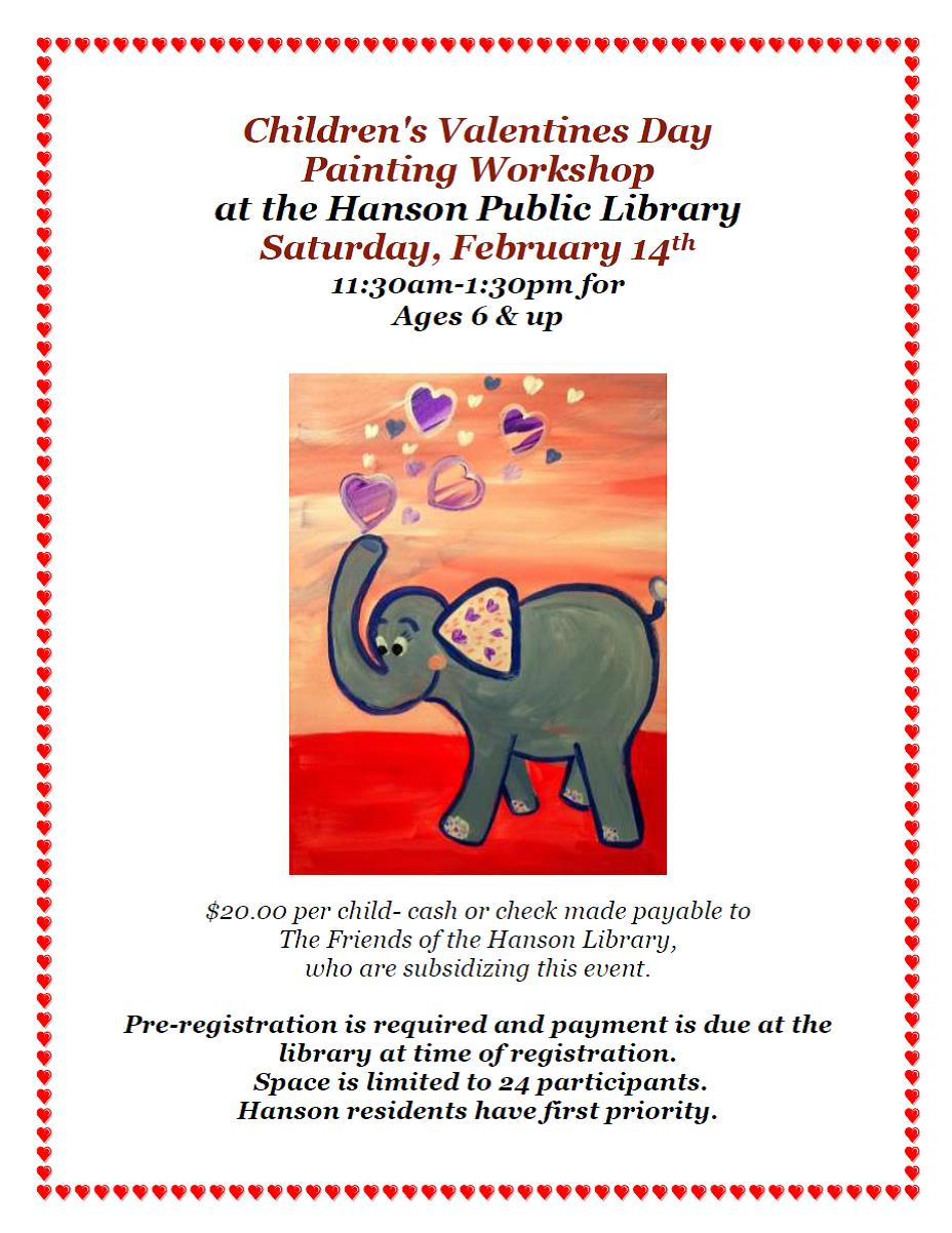 Children's Valentines Day Painting Workshop