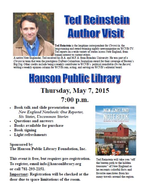 Ted Reinstein Author Visit