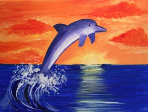 Children's Painting Workshop March 2016 - Dolphin