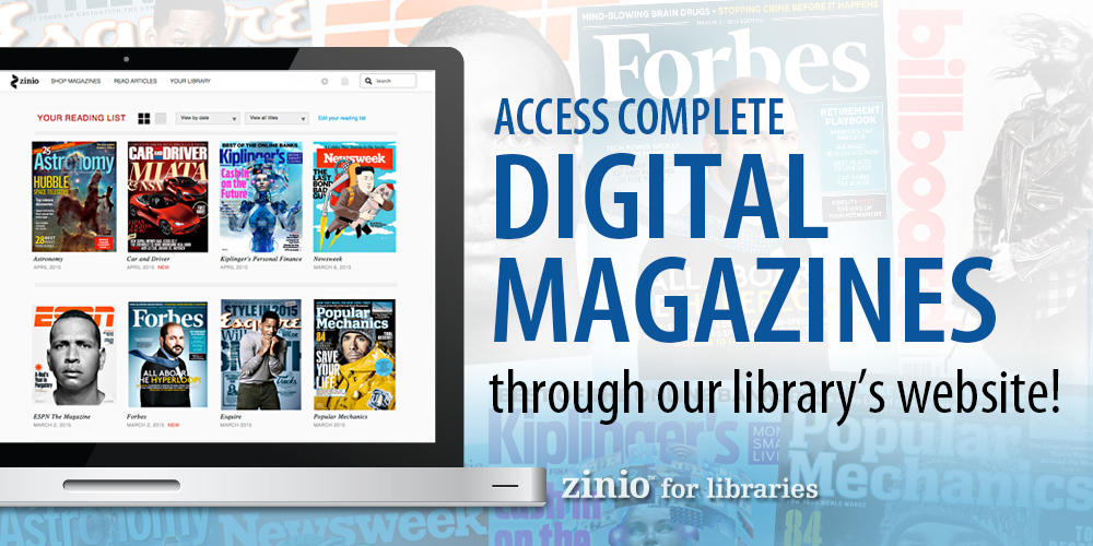 Read digital magazines