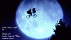RESCHEDULED Outdoor Movie Night: ET!